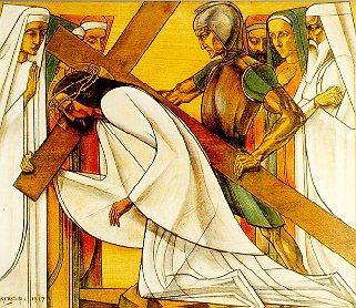 3e statie: Jezus valt