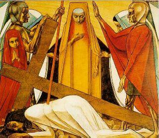 9e statie: Jezus valt voor de derde keer