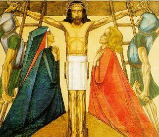 11e statie: Jezus wordt gekruisigd