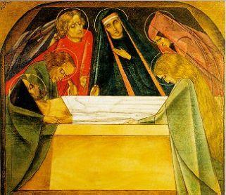 14e statie: Jezus begraven