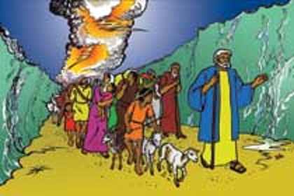 The Moses Leading Israelites Out of Egypt Clip Art