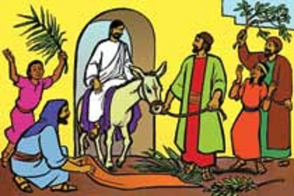 a week before jesus was crucified he went to jerusalem riding on a donkey many people spread their cloaks on the road others spread branches before him
