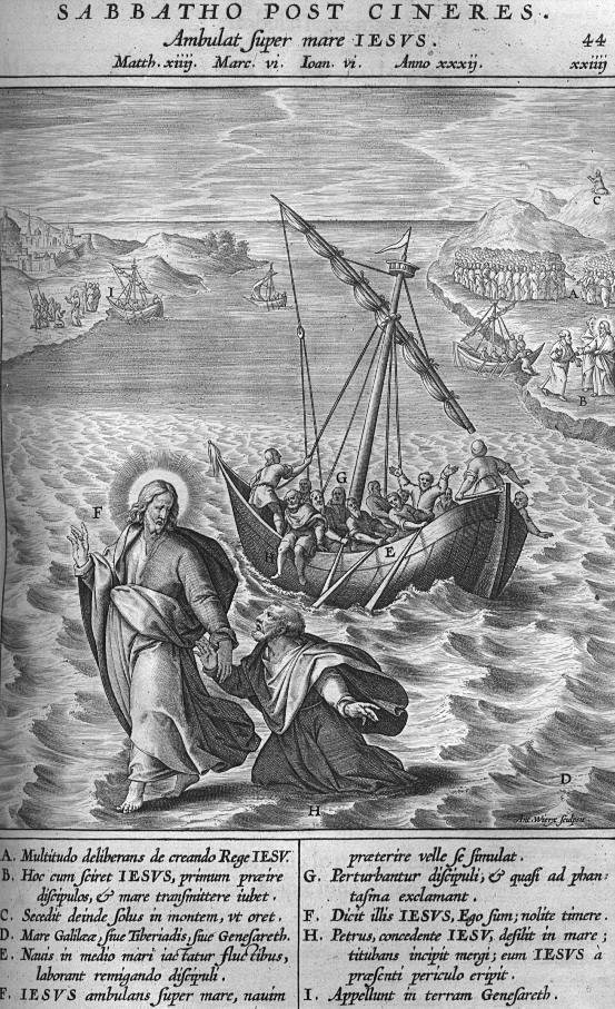 Afbeelding Missale Romanum 04 - JEZUS LOOPT OVER HET WATER